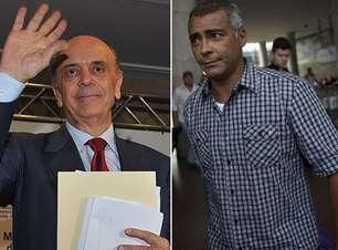Serra e Romário lideram corrida ao Senado em SP e RJ