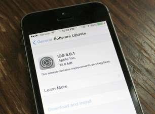 Apple tira do ar nova atualização do iOS 8.0.1 por falha