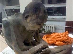 Múmia de 200 anos de monge é achada em pose de meditação