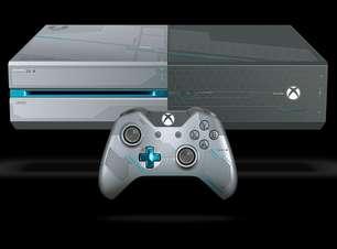 """Xbox One com temática de """"Halo 5"""" vem coberto por armadura"""