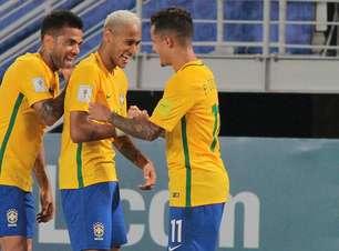 """Com """"campeão voltou"""" e 300º de Neymar, Brasil arrasa Bolívia"""