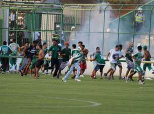 Briga generalizada ofusca duelo entre Gama e Brasiliense