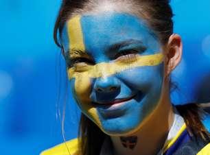 Suécia x Suíça: confira as imagens mais marcantes do duelo