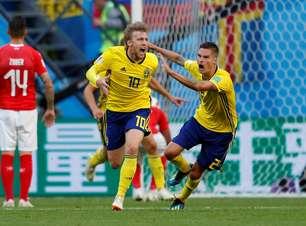 Suécia elimina Suíça e avança às quartas da Copa