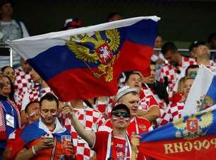 Veja fotos de Rússia x Croácia pelas quartas da Copa