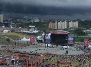 Lollapalooza tem histórico de má sorte com chuvas
