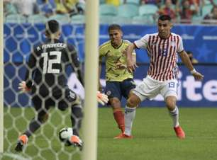 Com gol de Cuéllar, Colômbia bate o Paraguai e garante 100%