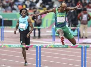 Alison dos Santos é campeão nos 400m com barreira do Pan