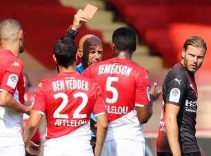 Jemerson é expulso, Monaco empata e segue sem vencer no Francês