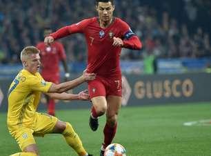 CR7 marca gol histórico, mas Portugal perde para a Ucrânia