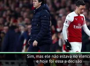 Emery se recusa a falar sobre o futuro de Ozil no Arsenal