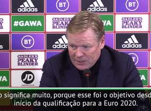 """FUTEBOL: Euro 2020: Koeman: """"Holanda poderia ter jogado melhor nas eliminatórias'"""