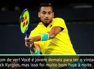 """TÊNIS: ATP Cup: Kyrgios: """"Estou tentando me comportar"""""""