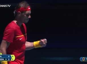 ATP Cup: Nadal v Nishioka (7-6, 6-4) - melhores momentos