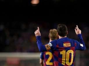 Messi brilha, faz 2 e leva Barça às quartas da Copa do Rei