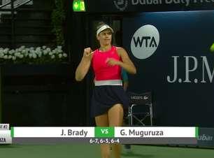WTA Dubai: Brady derrota Muguruza (6-7, 6-3, 6-4)