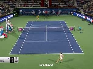 TÊNIS: WTA Dubai: Halep vence Sabalenka e avança à semifinal