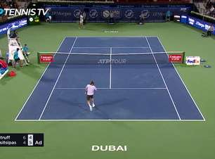 TÊNIS: ATP Dubai: Tsitsipas derrota Struff (4-6, 6-4, 6-4)