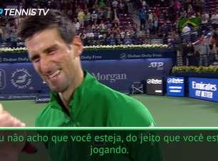 TËNIS: Aberto de Dubai: Djokovic brinca sobre ficar invicto por toda a temporada após novo título
