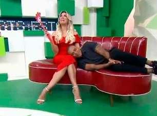 Renata Fan se desespera após pomba invadir 'Jogo Aberto'