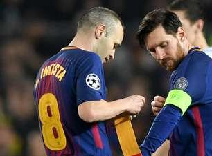 Quatro títulos da Liga dos Campeões foram pouco para o Barcelona de Messi, diz Iniesta