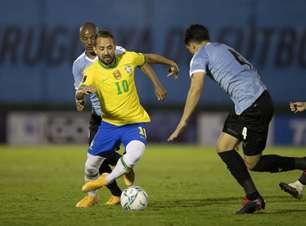 Rivaldo elogia atuação de Everton Ribeiro contra o Uruguai: 'Não foi surpresa, pois tem muita qualidade'