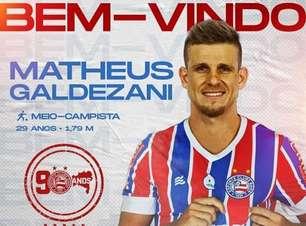 Meio-campo do Bahia, Matheus Galdezani reforça o clube