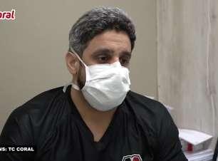 """SANTA CRUZ: Médico do clube comenta situação de Quiñonez após cirurgia, explica enfermidade do equatoriano e afirma: """"Em dois meses ele estará apto a voltar a treinar"""""""