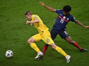 França empata com a Ucrânia por 1 a 1 pelas Eliminatórias