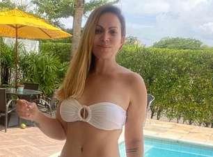 Solange Almeida troca de roupa em vídeo e surpreende