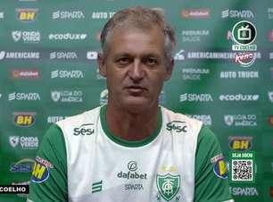 """AMÉRICA-MG: Lisca tira lições da derrota para o Galo e afirma: """"Se jogarmos novamente contra eles, faremos um jogo totalmente diferente"""""""