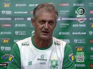 """AMÉRICA-MG: Lisca comenta derrota para o Galo, destaca qualidade do elenco adversário e avalia: """"Mereceram a vitória"""""""