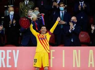 Messi comemora título da Copa do Rei: 'Este grupo merecia uma alegria'