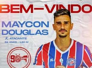 Bahia oficializa a chegada do atacante Maycon Douglas