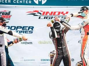 Malukas segura Kirkwood e vence de ponta a ponta corrida 2 de St. Pete pela Indy Lights