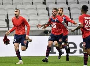 Lille vence o Lyon de virada e ultrapassa o PSG na liderança