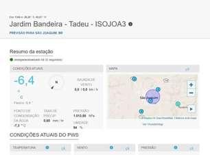 Frio de -5°C em Santa Catarina