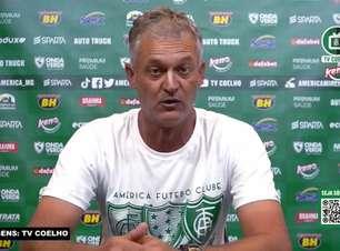 """AMÉRICA-MG: Lisca explica confusão após o jogo e alfineta: """"Queriam desviar o foco do resultado"""""""
