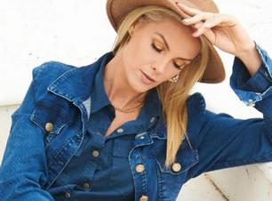 Hickmann acerta com jeans: 'Azul é cor de todas as estações'