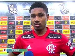 """FLAMENGO: Vitinho celebra goleada: """"Entramos determinados"""""""