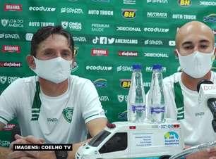 """AMÉRICA-MG: Comissão técnica do clube comemora vaga a final do Mineiro: """"Felizes com o objetivo alcançado"""""""