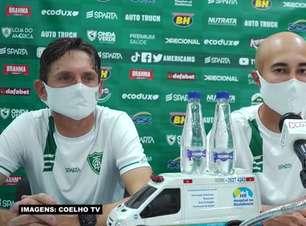 """AMÉRICA-MG: Comissão técnica do clube exalta modelo de jogo da equipe: """"Temos um conceito de trabalho bem definido"""""""