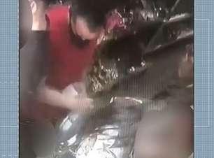 Câmeras registram homem encostando pênis em mulher grávida dentro de loja