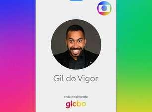 Gilberto assina contrato com a Globo e já tem até crachá: 'Estou muito chique'