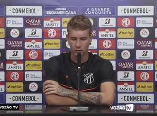 """CEARÁ: Charles relembra duelo contra o Arsenal de Sarandí e projeta o jogo de volta contra a equipe argentina: """"Temos que jogar igual ou melhor do que fizemos na partida de ida"""""""