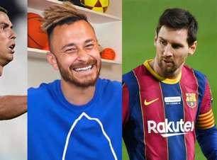 Fred, do Desimpedidos, afirma que 'foi mais bonito ver o Edmundo jogar' do que Messi e CR7 em 'toda a história'