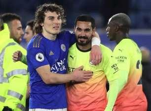 Gündogan 'agradece' a zagueiro do Leicester por título inglês do Manchester City