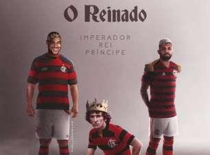 'Imperador, rei e príncipe': Ídolo do Flamengo, Adriano republica homenagem com Gabigol e Zico