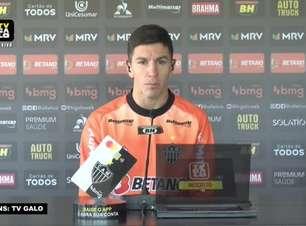 """ATLÉTICO-MG: Nacho Fernández destaca melhora da equipe: """"À medida que vão passando as partidas, vamos nos sentido melhor em campo"""""""