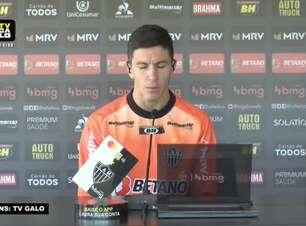 """ATLÉTICO-MG: Nacho Fernández comenta mudanças na sua forma de jogar desde que chegou ao clube: """"Cuca me pede para jogar solto no meio e é onde me sinto melhor"""""""